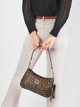 Shoulder Bag Lida Guess Brown lida SS814120-vue-porte
