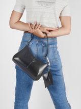 Shoulder Bag Coal Guess Black coal VY798920-vue-porte