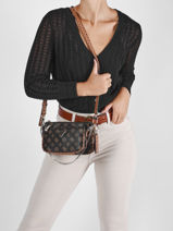 Shoulder Bag Arie Guess Black arie PG788570-vue-porte