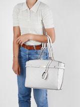 Shoulder Bag Bea Guess White bea VS813223-vue-porte