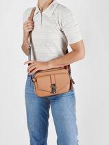 Shoulder Bag Albury Guess Brown albury VG813114-vue-porte