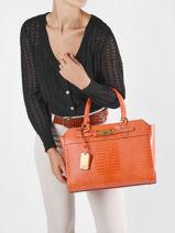 Shoulder Bag Raffie Guess Orange raffie CB776023-vue-porte