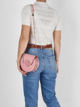 Shoulder Bag Heyden Guess Pink heyden QE813477-vue-porte