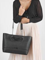 Shoulder Bag Ninon Leather Lancel Black ninon A11737-vue-porte