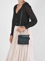 Small Leather Ninon Crossbody Bag Lancel Green ninon A11745-vue-porte
