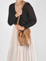 Crossbody Bag Cheri Leather Lancel Brown cheri A11772-vue-porte