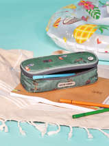 Pencil Case 1 Compartment Jack piers Green jp boys B
