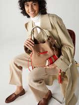 Medium Leather Bucket Bag Premier Flirt Lancel Multicolor premier flirt A10531