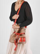 Medium Leather Bucket Bag Premier Flirt Lancel Multicolor premier flirt A10531-vue-porte