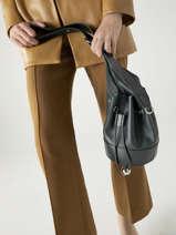 Small Leather Chéri Bucket Bag Lancel Green cheri A11772