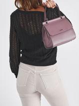 Shoulder Bag Blazer Leather Etrier Violet blazer EBLA001M-vue-porte