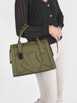 Top Handle Alezan Leather Etrier Green alezan EALE003M-vue-porte