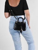 Crossbody Bag Katey Guess Black katey CG787076-vue-porte