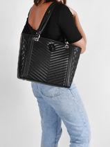 Shoulder Bag A4 Noelle Guess Black noelle LG787923-vue-porte