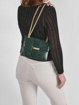 Shoulder Bag Cavale Leather Etrier Green cavale ECAV002S-vue-porte