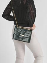 Shoulder Bag Cavale Leather Etrier Green cavale ECAV002M-vue-porte