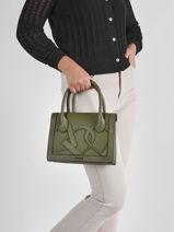 Top Handle Alezan Leather Etrier Green alezan EALE002M-vue-porte