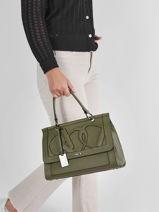 Top Handle Alezan Leather Etrier Green alezan EALE001L-vue-porte