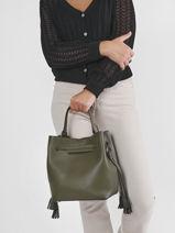 Top Handle Blazer Leather Etrier Green blazer EBLA004M-vue-porte
