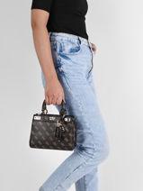 Crossbody Bag Katey Guess Brown katey SG787076-vue-porte