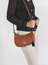 Leather Ecuyer Crossbody Bag Etrier Brown ecuyer EECU12-vue-porte