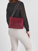 Shoulder Bag Arizona Leather Etrier Violet arizona EARI24-vue-porte