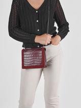 Shoulder Bag Arizona Leather Etrier Red arizona EARI25-vue-porte