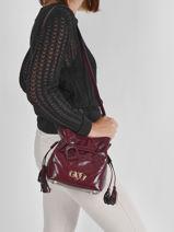 Shoulder Bag Cavale Leather Etrier Red cavale ECAV004S-vue-porte