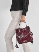 Shoulder Bag Cavale Leather Etrier Violet cavale ECAV004M-vue-porte
