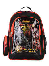 Backpack 2 Compartments Avengers Black loris 593540IW