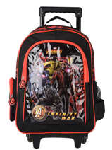Wheeled Backpack Avengers Black loris 103586IW