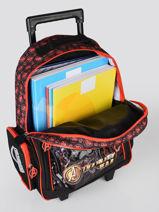 Wheeled Backpack Avengers Black loris 103586IW-vue-porte
