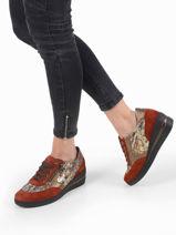 Patrizia sneakers in leather-MEPHISTO-vue-porte