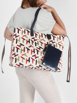 Sac Cabas Iconic Tommy Tommy hilfiger Beige iconic tommy AW10118-vue-porte