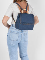 Backpack Woomen Violet gentiane WGEN06-vue-porte