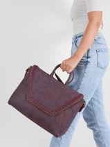 Briefcase A4 Woomen Violet gentiane WGEN81-vue-porte