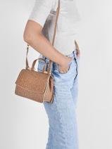 Shoulder Bag Coquelicot Cork Woomen Beige coquelicot WCOL11-vue-porte