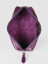 Metallic Leather Pencil Case Milano Violet river RI151101-vue-porte