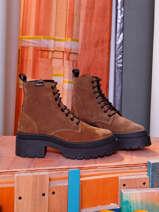 Bottines a talon in leather-VICTORIA