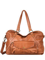 Shoulder Bag Liv Leather Pieces Brown liv 17112353