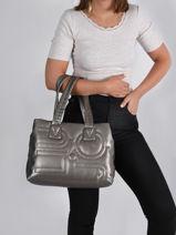 Shoulder Bag Sinuosa Liu jo Silver sinuosa AF1081-vue-porte