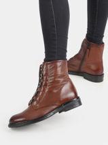 Bottines in leather-MJUS-vue-porte