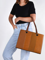 Shopping Bag Format A4 Gallantry Brown format a4 1601-vue-porte