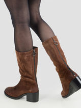 Leather boots with heel-MJUS-vue-porte