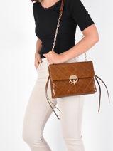 Shoulder Bag Moon Leather Vanessa bruno Brown moon 84V40485-vue-porte