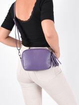 Shoulder Bag  Leather Milano Violet caviar CA20064N-vue-porte