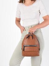 Backpack Desigual embossed half 21WAKP16-vue-porte