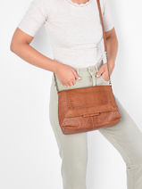 Shoulder Bag Felizia Leather Pieces Brown felizia 17116819-vue-porte