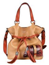 Medium Leather Premier Flirt Python Bucket Bag Lancel premier flirt A11757