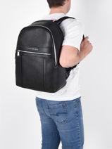 Backpack Tommy hilfiger Black downtown AM07560-vue-porte